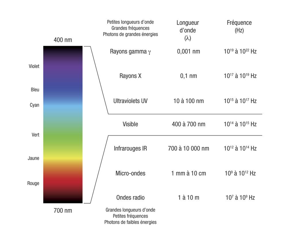 Principales Parties Du Spectre électromagnétique Le Monde En Images